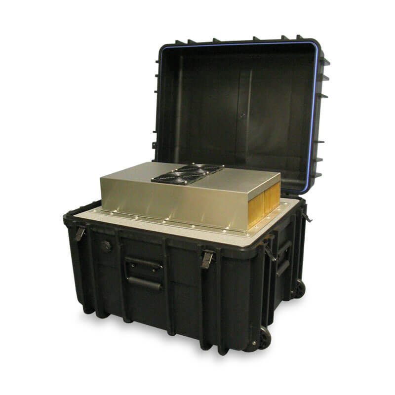 Defender™ Clamshell Series Air Conditioned Transit Case - Front View, Right Side