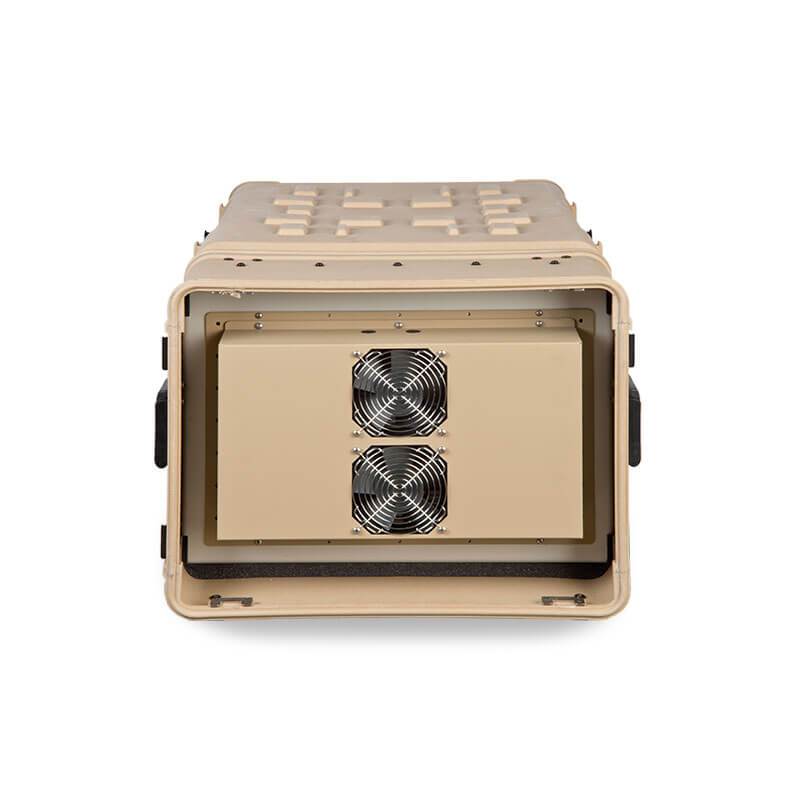 Defender™ Composite Series Air Conditioned Rack Case - Front View