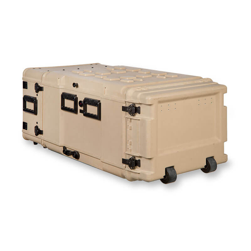 Defender™ Composite Series Air Conditioned Rack Case - Rear View, Right Side