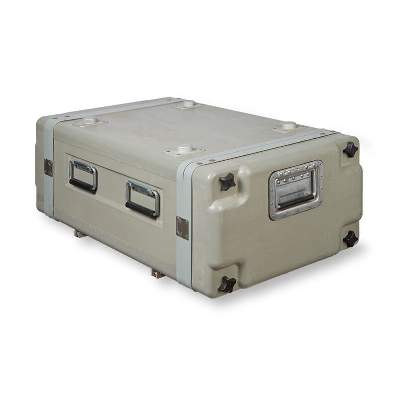 Defender™ Fiberglass Series Air Conditioned Rack Case - Front, Left Side